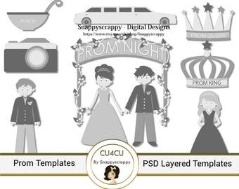 Prom Photoshop Layered Templates