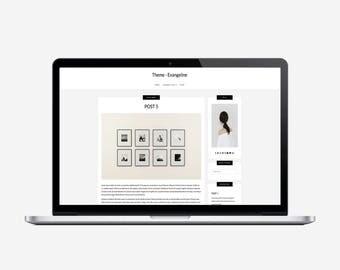 EVANGELINE - Responsive Wordpress Theme - Sticky Navbar, Simple, Chic, Minimal, Sleek