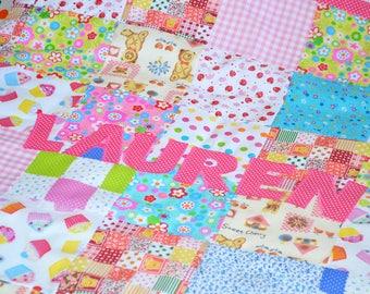Handmade Baby Blanket, Baby Patchwork Blanket, Personalidedicated Baby Blanket, Pink Baby Blankey
