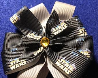 Grey Star Wars Hair Bow