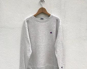 20% OFF Vintage Champion Sweatshirt Sweater 90s Champion pullover Champion C Logo Champion Spell Out Sweatshirt