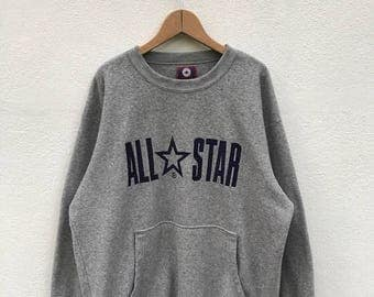 20% OFF Vintage Converse All Star Sweatshirt/Converse Usa/Converse Sweater/Converse Spell Out