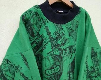 20% OFF Vintage Ellesse Paris Sweatshirt/Casual Shirt/Ellesse Sweater/Ellesse Tennis Shirt/Ellesse Sportwear