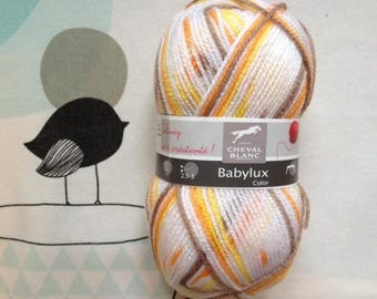 WOOL BABYLUX COLOR Nature - white horse