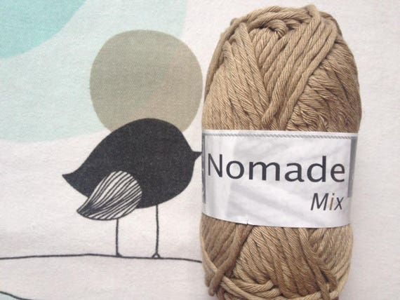 WOOL MIX taupe - white horse Nomad