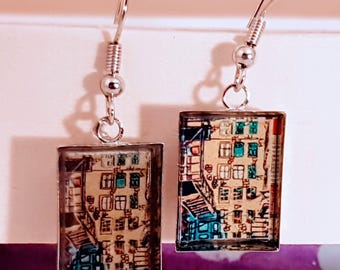 Rectangle Collection symbiosis earrings