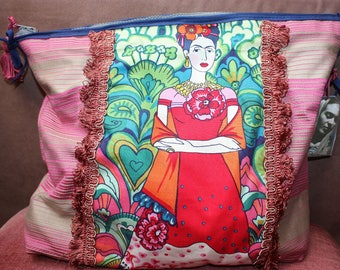 Frida Kahlo - clutch - make-up bag - la Margaret - Frida - toiletry bags