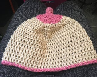 Crochet Boob Beanie Hat Boobie Nipple