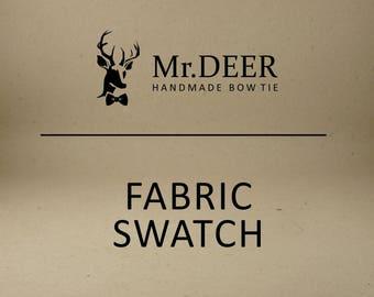 Mr.Deer handmade bow tie FABRIC SWATCH