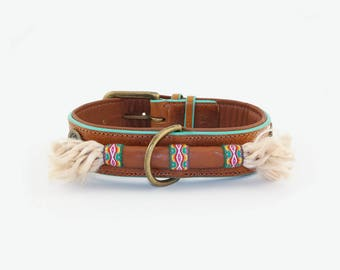 Cool leather dog collar Woodstock Dog with a mission (DWAM)