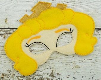Sleeping Princess Children's Felt Mask  - Costume - Theater - Dress Up - Halloween - Face Mask - Pretend Play - Party Favor