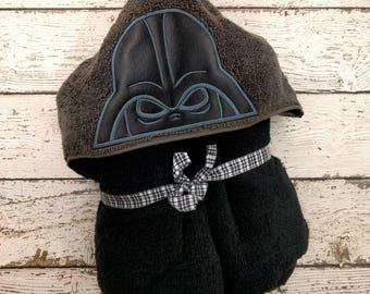 Darth Vader Children's Hooded Towel, Baby Towel, Childrens Hood Towel, Bath Towel, Beach Towel, Personalized Towel, Character Towel