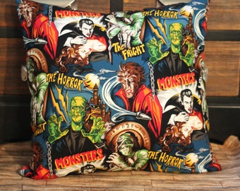 16x16 Classic Monster Pillow Cover