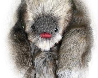 Noelle, OOAK Artist Bunny, BearFolk & Friends, A Lil Darlin Original, Bunny, Original Pattern, Handmade Bunny