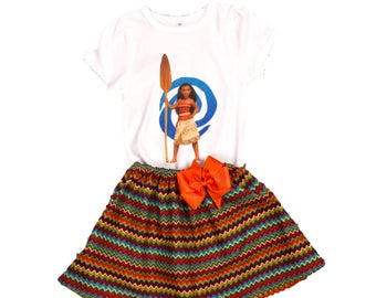 Girl Moana birthday outfit Girl outfit  girl Moana dress  toddler Moana clothes Girl name age Moana outfit girl toddler Moana dress