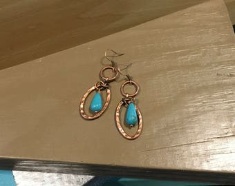 Circled in Turquoise Earrings