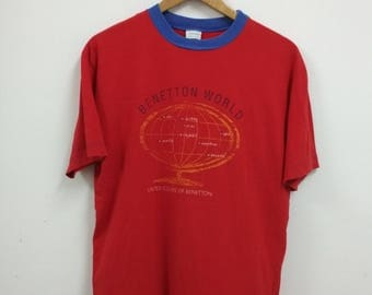 Rare Vintage United Colors Of Benetton Tshirt Size M