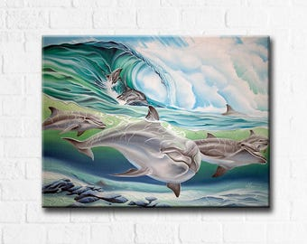 Dolphin 2 - Original Oil Painting