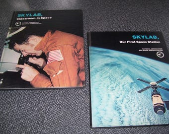 Sylab, Our First Space Station and Skylab, Classroom in Space  Set  NASA HC 1977 Vintage