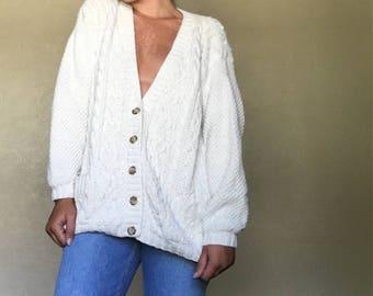 90s Chunky Knit Cardigan Size M
