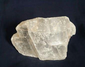 Selenite Clearing Crystal // Healing Crystal // Meditation Stone // Angel Stone // Chakra Balance Crystal // White Gemstone // Raw Selenite