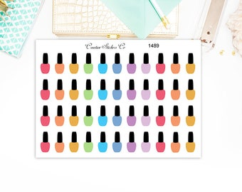 Nail Polish Stickers, Paint Nails Planner Stickers – Will fit any planner– 1489