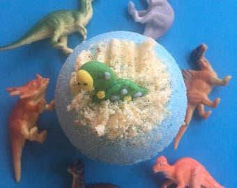 Dinosaur Bath Bomb, Boys Bath Bomb, Surprise bath bomb, Birthday Gift, Christmas Bath Bomb, Christmas Gift, Xmas Bath Bomb, StockingFiller