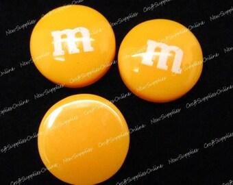 Orange candy cabochon