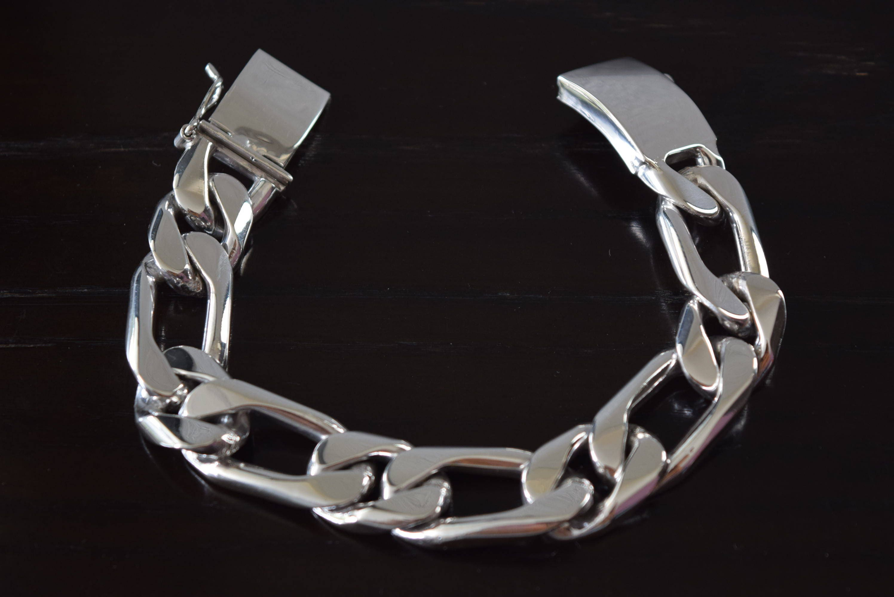 mens fullxfull il p thick stainless wide steel link bracelet jewelry chain
