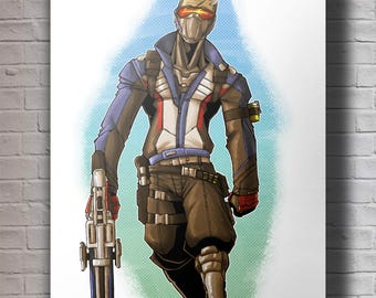 Overwatch Soldier 76 A4 Original Art Print
