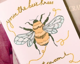 The Smiths Lyric Inspired Greeting Card / Bees Knees / 5 X 7