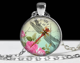 Dragonfly Jewelry Dragonfly Pendant Wearabel Art Inscect Jewelry  Dragonfly Necklace