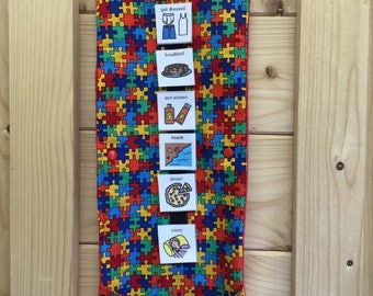 Travel Roll for Communication Cards PECS Autism ASD Aspergers
