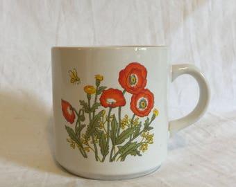 Vintage Korean Floral Mug