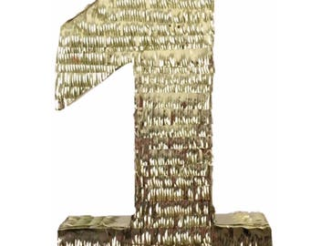 Number One Pinata Gold Color 1st Birthday
