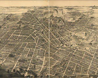 Poster, Many Sizes Available; Map Of Battle Creek, Michigan 1885