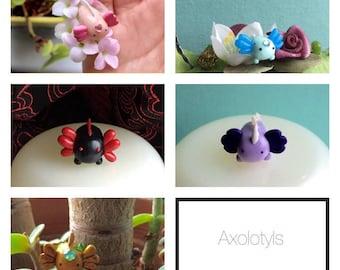 Axolotl clay figure room decorations