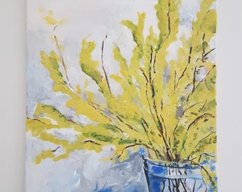 Acrylic Wildflower Painting