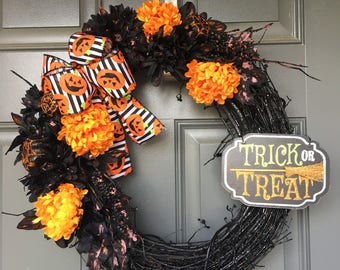 Halloween Wreath Wreaths For Front Door Decor