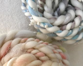 Yarn pack 7 - 53g hand dyed, hand spun yarn tasters