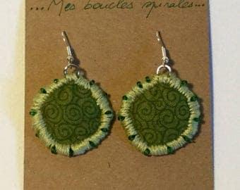 Earrings spiral green banker BO5.15
