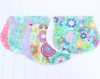 Baby Girl Burp Cloths - Set of 3 - Baby Gift - Baby Shower Gift - Aztec