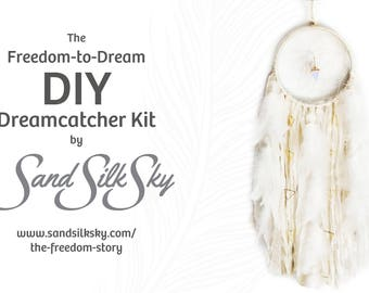 DIY Dreamcatcher Kit ~ Freedom-to-Dream ~ proceeds to non-profit ~ shop with purpose, gifts for change, Do it Yourself Gifts for teens