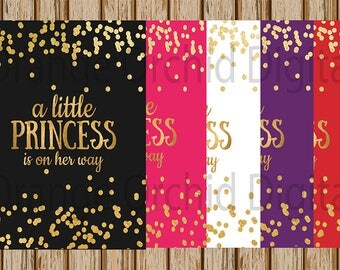 """INSTANT DOWNLOAD- A Little Princess is on her way Gender Reveal Signs- Maternity Photography Prop- 8"""" x 10"""" image- Digital Image"""
