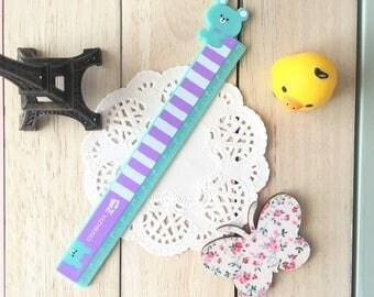 Kawaii Ruler/15cm/1PC/Purple & Teal