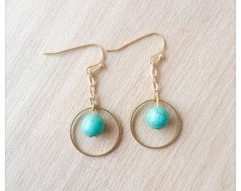 Valencia agate earrings