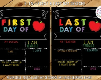 PRE-ORDER 5! First Day of School Chalkboard, Reusable First Day of School Sign, First and Last Day of School Sign, Back to School Chalkboard