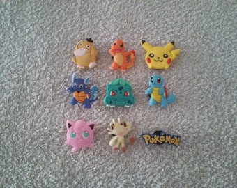 Lot 9 jibbitz Pokemon (for fangs badges)