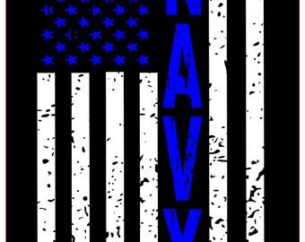 Navy distressed flag SVG File, Quote Cut File, Silhouette File, Cricut File, Vinyl Cut File