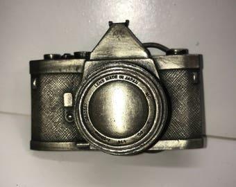 Bergamont 1979 Vintage Camera Belt Buckle